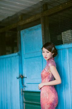 Lace cheongsam by Caramel & Co. Vintage and Nostalgic Styled Engagement Shoot with Cheongsams