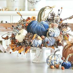 If you are looking for French Farmhouse Fall Table Design, You come to the right place. Below are the French Farmhouse Fall Table Design. This post . Velvet Pumpkins, White Pumpkins, Fall Pumpkins, Fall Home Decor, Autumn Home, Blue Fall Decor, Elegant Fall Decor, Holiday Decor, Chinoiserie