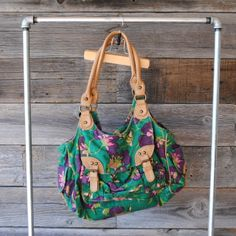 """Nest' double handle floral purse 