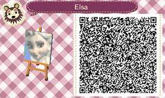 Elsa from Frozen- AC New Leaf QR Codes
