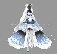 [OPEN] Glacial duchess outfit [Auction] by aririzia