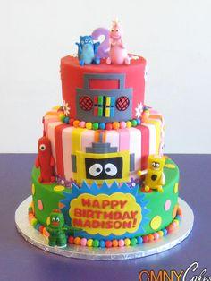 Cool 72 Best Yo Gabba Gabba Cakes Images Yo Gabba Gabba Gabba Gabba Funny Birthday Cards Online Overcheapnameinfo