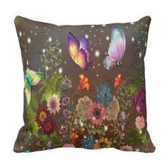 #Magic Butterflies - Throw Pillow/Lumbar Pillow - #cute #gifts #cool #giftideas #custom