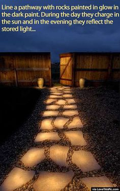 How To Make A Glow In The Dark Pathway Pictures, Photos, and Images for Facebook, Tumblr, Pinterest, and Twitter