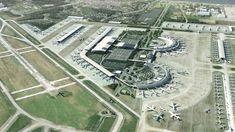 Rio de Janiero Galileo Airport expansion proposal - illustration by Leif Peterson Design