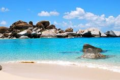 The Baths, British Virgin Islands - beach with grottos and pools formed by boulders