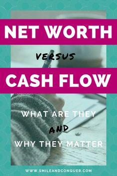 Do you know what your net worth and cash flow are? Find out everything you need to know about net worth vs cash flow and how to calculate yours today! Sun Life Financial, Financial Literacy, Financial Tips, Ways To Save Money, Money Saving Tips, Money Tips, Managing Money, Budgeting Money, Net Worth