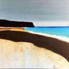 Black cliff Acrylic paint 80/80 cm