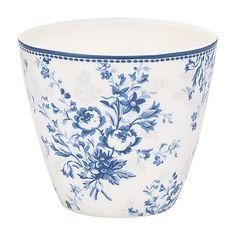 GreenGate Stoneware Latte Cup Sadie Blue H 9 cm A/W 2015