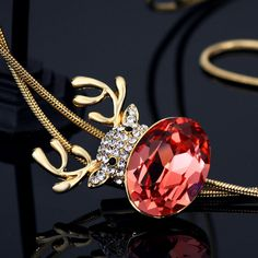 Long Pendant Necklaces for Women 14K Gold Plated Jewelry