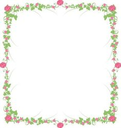 Beautiful Rose Vine pages - All 3 - shabby chic pink, Red & Burgundy Rose (digital download). Etsy.