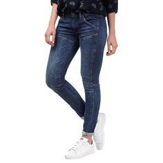| #G-Star #Raw #Damen #Mid #Skinny #Fit #5-Pocket-Jeans im #Stone #Washed-Look
