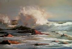 """Every Breaking Wave"" by STAN POLSON AVAILABLE!! Oil on Canvas - Unframed Size:  60 x 45cm Remember we ship nationwide and internationally with very reliable couriers!!  For more info and price contact Lientjie on +2783 630 2143 or lientjie@robertbadenhorst.co.za South African Art, Artist Painting, Oil On Canvas, Waves, Ship, Artists, Painted Canvas, Artist, Ships"