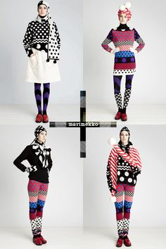Noora Niinikoski's Tivoli knitware line for Marimekko's Fall 2011 line I would not wear it all together, but all the pieces of it...lol