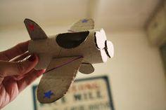 toilet paper craft: vintage airplane