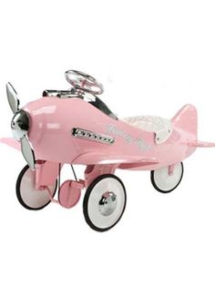 Airflow Fantasy Flyer Pink Tricycle Pedal Plane