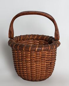 "antique baskets | Small ""One Egg"" Nantucket lightship basket with a nicely shaped ..."