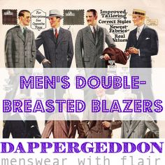 Men's Double-breasted Blazers - Dappergeddon Menswear with Flair
