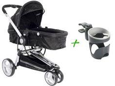 Carrinho de Bebê Passeio Kiddo Compass Reclinável - 3 Posições + Suporte de Copo para Carrinho