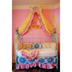 Claire Cornice- Circus www.addisonswonderland.com Baby Bedding, Girl's Bedding, Vintage Chic, Crib Set