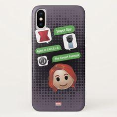 Black Widow Emoji iPhone X Case - black gifts unique cool diy customize personalize