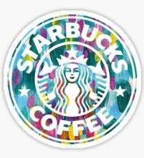 'Painted Starbucks Logo' Sticker by aterkaderk Starbucks Logo, Arte Starbucks, Starbucks Drinks, Starbucks Coffee, Starbucks Crafts, Disney Starbucks, Bubble Stickers, Cute Stickers, Logo Stickers