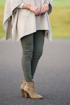 How to Wear Ankle Boots - tucked into booties with a higher shaft