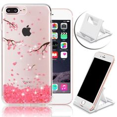 PINK-BLOSSOM-Cute-Bling-Cherry-Flower-Sparkle-Phone-Case-Cover-for-iPHONE-7-PLUS