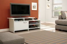 Amazon.com - South Shore Grace TV Stand, Pure White - Television Stands  AWWW YEAH FREE SHIPPPPING