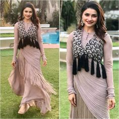 Designer Party Wear Dresses, Kurti Designs Party Wear, Indian Designer Outfits, Indian Dresses, Indian Outfits, Stylish Dresses, Fashion Dresses, Bollywood Fashion, Bollywood Hair