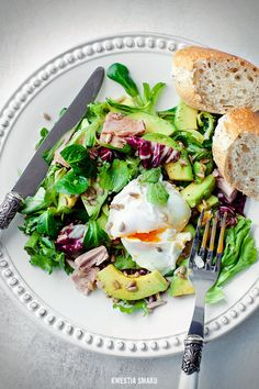 Tuna Salad with Poached Egg