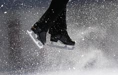 Lift off. Ice skating.