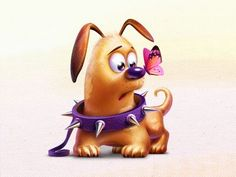 cute little doggy Cat Character, Character Design, Cute Images, Cute Pictures, Cute Puppies, Cute Dogs, Cute Disney Outfits, Dog Illustration, Little Dogs