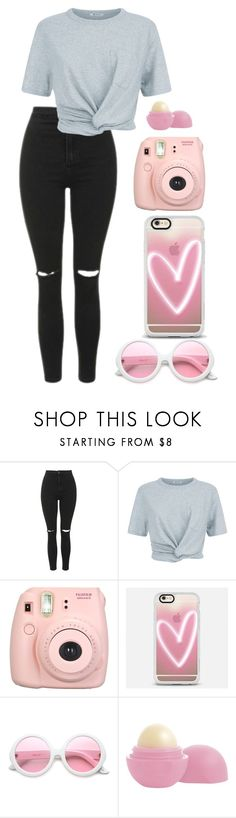 """Michelle Alvarez"" by littlewierdo13 on Polyvore featuring Topshop, T By Alexander Wang, Fujifilm, Casetify, ZeroUV and Eos"