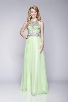 b6054e3a0c4d 2018 A Line Jewel Neckline Beaded Sleeveless Haltered Floor Length Prom  Dress. Pocadiz Bridal Boutique