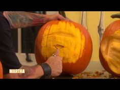 How to make crazy pumpkin faces- watch this video if you are considering this for your project