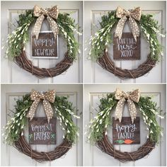 Seasonal Sayings (Set of 12 inserts for wreaths) by presentandpantry on Etsy https://www.etsy.com/listing/450527382/seasonal-sayings-set-of-12-inserts-for