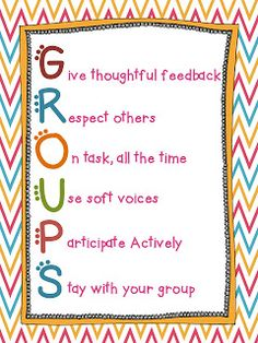 Here's a nice poster for outlining how students should work while in groups.