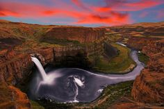 Palouse Falls Sunset by Nitin Kansal, via 500px