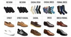 Liked on Pinterest: Save this easy guide for pairing shoes and pants: