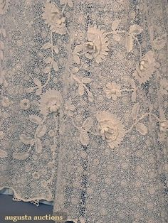 IRISH CROCHET TEA GOWN, 1915-1930 (Lace detail) by singram