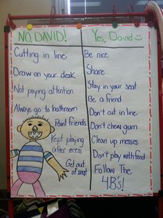 """Class Rules with """"No, David!"""" (picture only)  perfect for the beginning of the school year!:"""