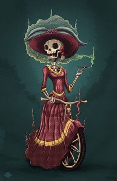 day of the dead man and woman calavera full figure - Google Search