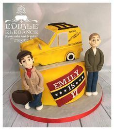 Only fools and horses themed cake, complete with edible van, Del and Rodney!
