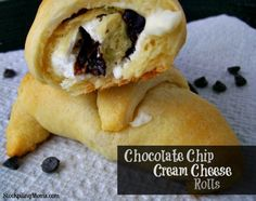 Chocolate Chip Cream Cheese Rolls #Food #Drink #Trusper #Tip