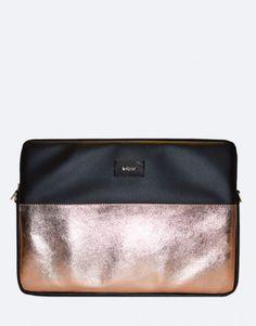 funda-portatil-minimal-metalico-oro-rosa Bags, Collection, Fashion, Notebook Covers, Rose Gold, Handbags, Moda, Fashion Styles, Taschen