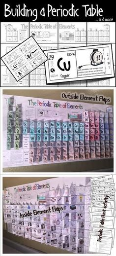 a Periodic Table . Students assemble, color, and complete a giant x inches) Periodic Table with fold out flaps for each element.Students assemble, color, and complete a giant x inches) Periodic Table with fold out flaps for each element. Chemistry Classroom, High School Chemistry, Chemistry Lessons, Teaching Chemistry, Science Chemistry, Middle School Science, Physical Science, Science Lessons, Earth Science