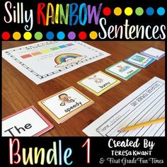This will be your back to school go-to writing center for building sentences. Perfect back to school ideas for writing. There are Silly Sentences Writing Prompts for the entire year. Comes with BW and color options. Check out the feedback to see how other Work On Writing, Teaching Writing, Writing Activities, Teaching Tips, Kindergarten Writing, Writing Ideas, Different Sentences, Silly Sentences, Writing Prompts Funny