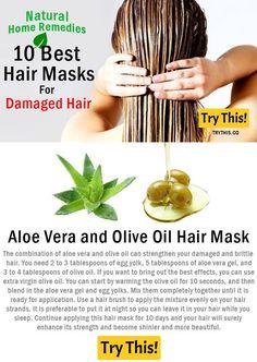 DIY Hair Masks And Face Masks 2018 : Aloe Vera and Olive Oil Hair Mask