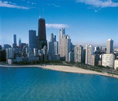 Chicago's Oak Street Beach and downtown skyline are seen in this undated photo. Chicago is United's ... - Patrick L. Pyszka, City of Chicago